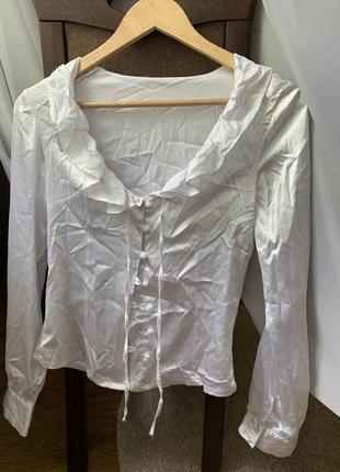 Атласна блуза, блузка, атласная блуза, сорочка, рубашка, біла сорочка, белая рубашка
