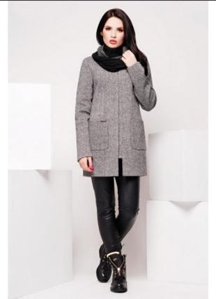 Актуальное пальто из твида с накладными карманами пальто шерсть шерстяное твидовое пальто