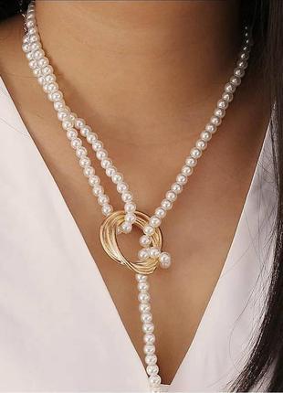 Украшение на шею жемчуг чокер ожерелье