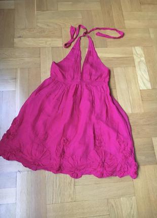 100%шелк платье сарафан