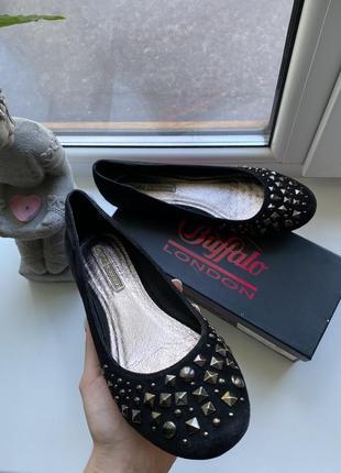Балетки туфли замшевые buffalo london 39 40