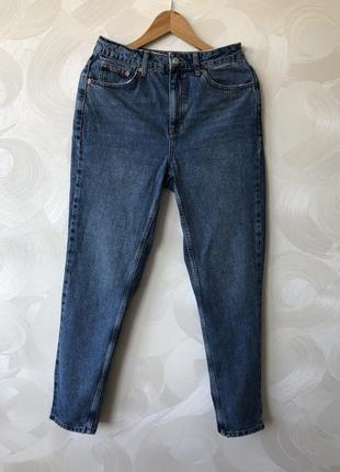 Джинсы с высокой посадкой topshop moto mom jeans