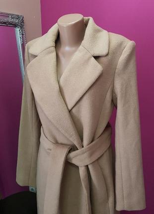 Пальто миди беж,пальто кемел5 фото