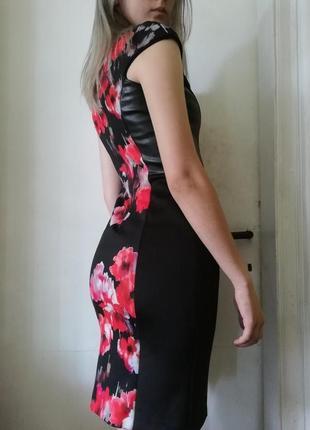 Спокуслива елегантна жіночна сукня. коктейльное платье обтягивающее. чёрное красное