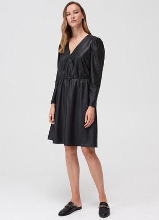 Платье из экокожи xxs-xl