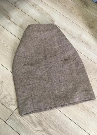 Базовая твидовая юбка laura clement шерсть
