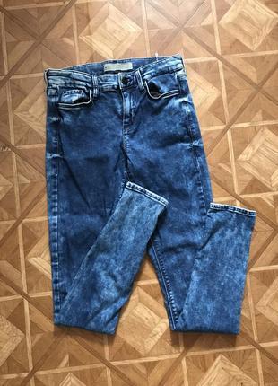 Синие джинсы скинни skinny