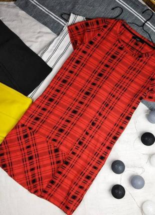 Платье в принт шотландская клетка next