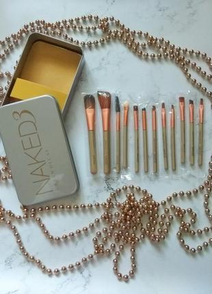 Набор кисточек для макияжа naked 3 urban decay из 12 инструментов