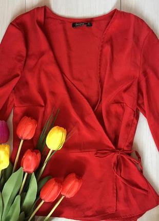 Блузка стильная красная zara