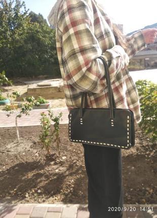Чёрная винтажная сумка багет новая сумка багет, винтажная сумка