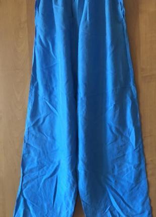 Шелковые штаны небесно голубого цвета