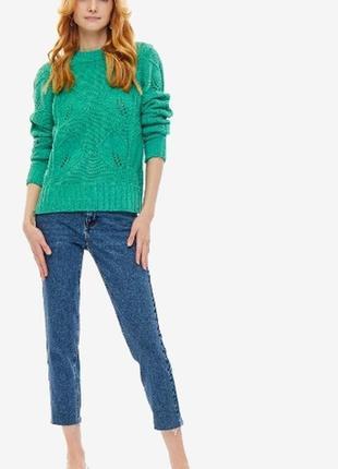 Свитер джемпер зелёный грубая вязка. сочный зелёный свитер oversize vero moda