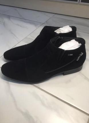 Зимние ботинки туфли carvari