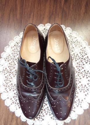 Мужские кожаные туфли на осень jones bootmakers