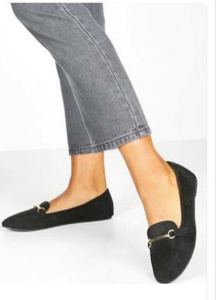 Туфли балетки осенние демисезонные замшевые чёрные