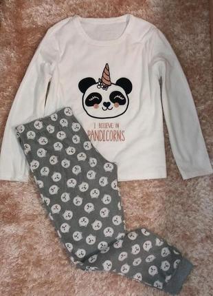 Тепленькая флисовая пижама или костюм для дома, анг 16-18 (евро 44-46)