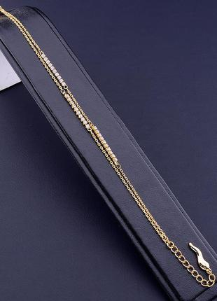 Браслет 'xuping' фианит 17 см. (позолота 18к) 0878790.
