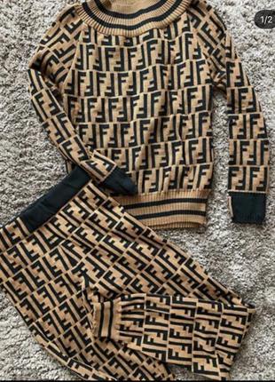 Тёплый костюм fendi