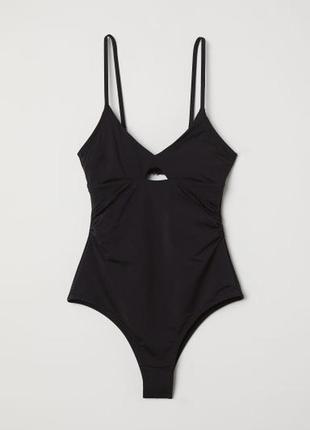 H&m купальник слитный сдельный черный, моделирующий, утягивающий, с утяжкой