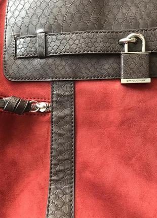 Фирменная сумка david jones оригинал, вставки под змеиную кожу