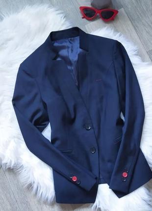 Классический приталенный тёмно-синий пиджак 🤩