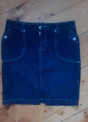 Джинсовая юбка спідниця джинсова