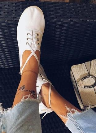 Кеды белые мод. oxford