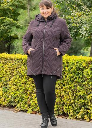 Демисезонная куртка, со съемным капюшоном - самые большие размеры