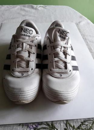 Кожанные кроссовки adidas neo