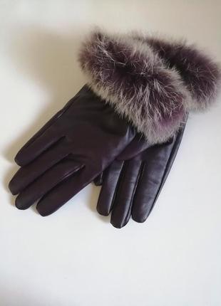 Перчатки с опушкой перчатки с мехом