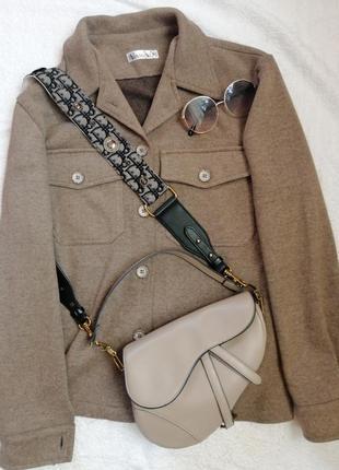 Шерстяная рубашка в стиле zara