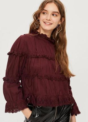 Очаровательная блузка с оборками