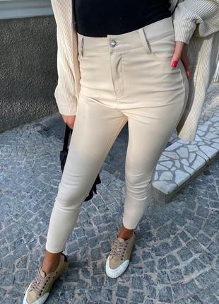 Штаны кожаные из экокожы