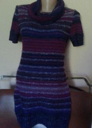 Фирменный румынский свитер туника короткое мини платье