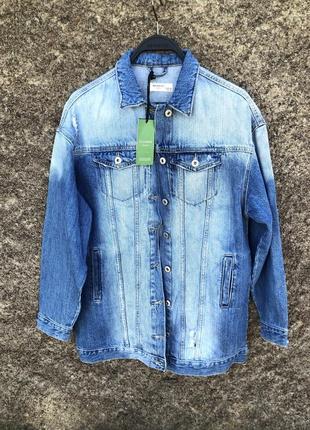 Удлененная джинсовая куртка reserved,oversize разные размеры