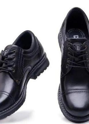 Мужские кожаные туфли city usa black 46 размер 31 см.