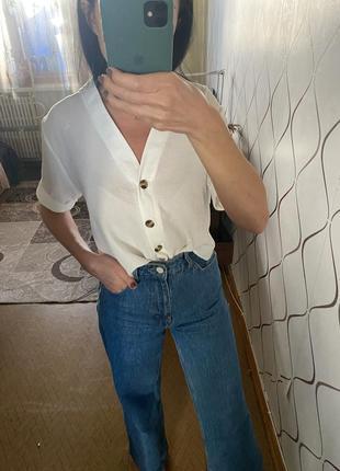 Шикарная молочная блуза от бренда new look