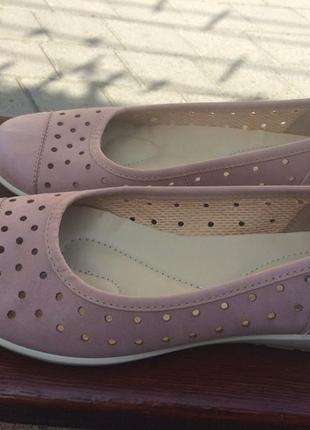 Суперкомфортные туфли hotter кожа англия р.38.5 перфорация