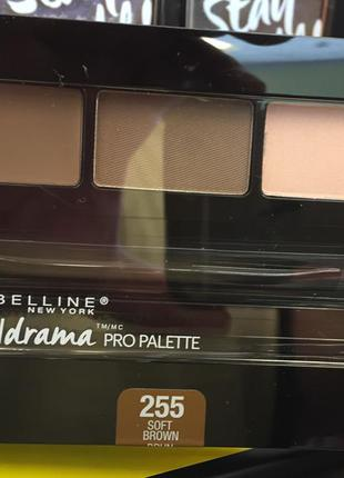 Тени для бровей maybelline brow drama pro palette, soft brown