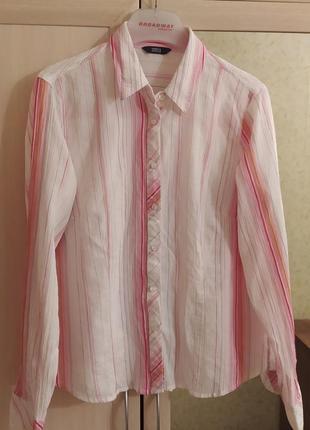 Красивая рубашка marks & spencer в полоску