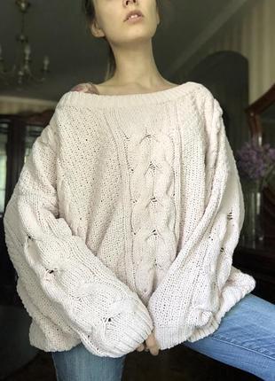 Мягкий розовый свитер