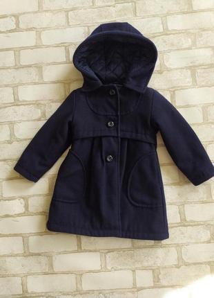 Деми пальто на девчоку m&s 2-3 года