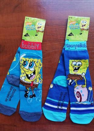 Набор из двух пар носков sponge bob 23-27 р. на ножку 15-17 см
