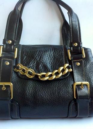 Брендовая кожаная сумка kenneth cole
