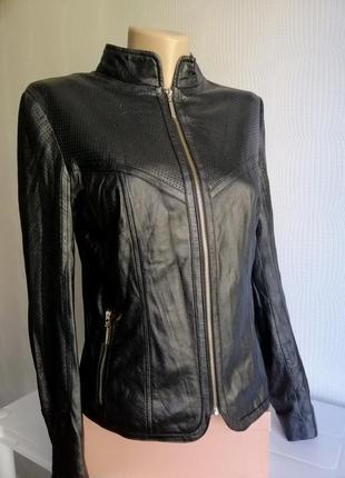 Кожаная куртка love republic из натуральной кожи, размер xxs, xs, s,6,8,44