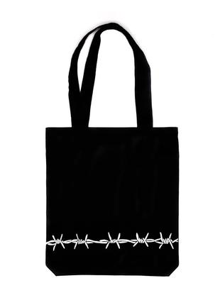 Эко шоппер с рисунком «колючка»