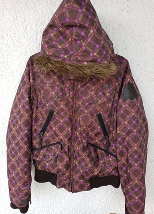 Куртка protest мембрана 4 k теплая лыжная борд женская с капюшоном a