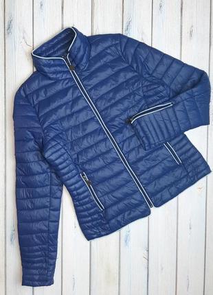 Стильная синяя стеганная куртка демисезон дутик, размер 44 - 46, италия