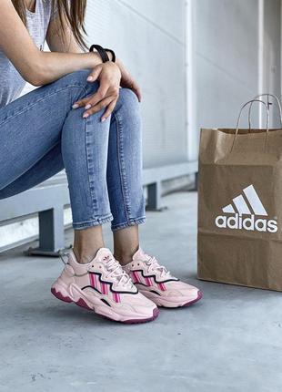 Кожаные adidas ozweego adiprene шикарные женские кроссовки адидас